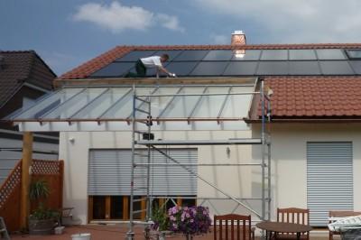 Terrassendach aus Sicherheitsglas